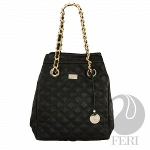 Women's Oversized Polyurethane Purse With Quilted Top Stitching