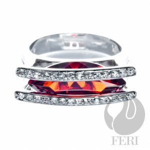 solid.925 sterling silver ring by FERI