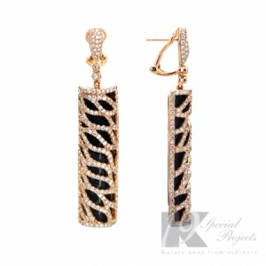 Discover FERI MOSH Exclusive Custome Made Diamond Gold Earrings