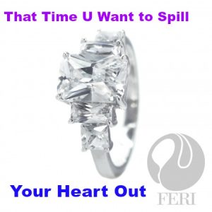 solid ,925 sterling silver rings by FERI