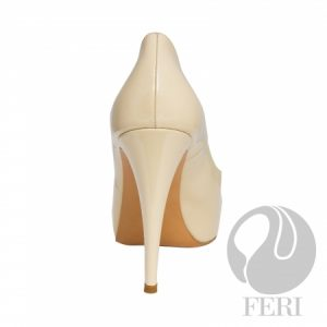 FERI - CATERINA - SHOES - Light Cream Beige Patent