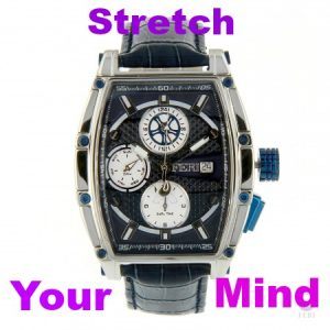 FERI - Helios Watch - Silver / Deep Blue with Printed Strap $3202.