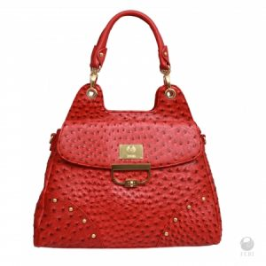 "Discover Your Luxury Bag of the Year Ostrich Print Faux Leather ""Stingray"" Bag"
