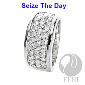 Extremely affordable rhodium plated engagement ring