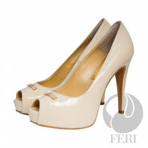 Shop for High End Designer Patent Leather-Caterina-Light Beige-shoes