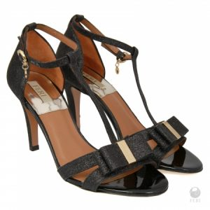 shop for ladies high end vera shoes black strappy evening sandals